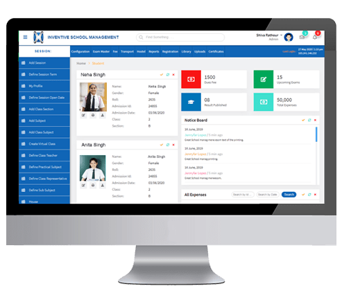 Inventive School ERP - a complete ERP for schools
